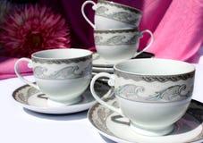 De koppen van de thee en van de koffie Stock Foto
