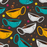 De Koppen van de thee en van de Koffie Stock Afbeelding