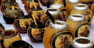 De koppen van de Yerbapartner stock afbeelding