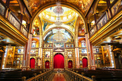 De Koptische Orthodoxe Kerk binnen in Sharm el Sheikh Stock Foto