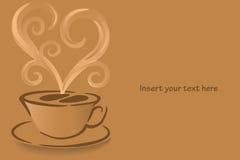 De kopvector van de koffie Stock Foto's