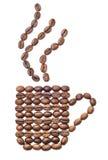 De kopvorm van de koffie royalty-vrije stock afbeeldingen