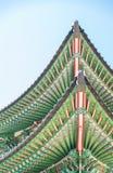De Koreaanse dakstijl is mooie architectuur Stock Foto's