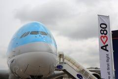 De Koreaanse Luchtbus van de Lucht A380 bij de Lucht van Parijs toont 2011 Stock Afbeelding