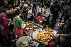 De Koreaanse markt van het straatvoedsel Stock Foto