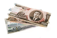 De Koreaanse munt van het noorden Royalty-vrije Stock Foto
