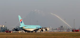 A380 de Korean Air Photographie stock libre de droits