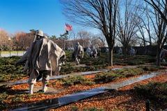 De koreanska krigsveterorna som är minnes- i Washington DC, USA Royaltyfri Fotografi