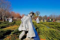 De koreanska krigsveterorna som är minnes- i Washington DC, USA Royaltyfri Bild