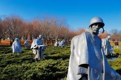 De koreanska krigsveterorna som är minnes- i Washington DC, USA Arkivbilder