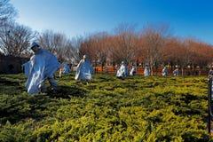De koreanska krigsveterorna som är minnes- i Washington DC, USA Royaltyfria Bilder