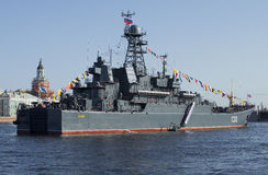 ` De Korolev de ` de BDK au festin en l'honneur du jour de victoire à St Petersburg Vue de la poupe Photos libres de droits