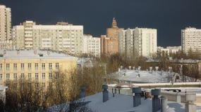 De Korpsen van de het landschapskadet van de stadswinter in Moskou royalty-vrije stock foto's