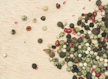 De korrels van de peper royalty-vrije stock afbeelding