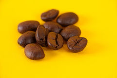De korrels van koffie Stock Foto's