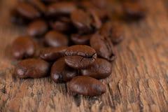 De korrels van koffie Stock Foto
