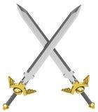 De korsade svärden Arkivbild