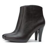 De korte zwarte laarzen van dames royalty-vrije stock foto's