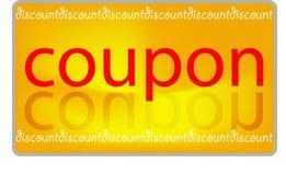 De korting van de coupon Stock Foto's