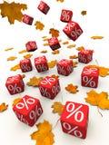 De korting van de herfst Royalty-vrije Stock Foto's