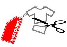 De korting van de t-shirt vector illustratie