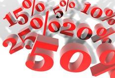 De kortingen van de instorting Stock Foto