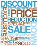 De kortingsaffiche van de verkoop vector illustratie