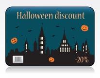 De kortingskaart van Halloween Stock Foto
