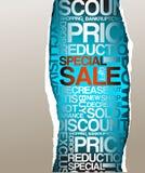 De kortingsreclame van de verkoop vector illustratie