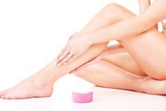 De kosmetische behandeling van benen Royalty-vrije Stock Afbeelding