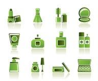 De kosmetische pictogrammen van de Industrie en van de schoonheid Royalty-vrije Stock Foto