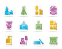 De kosmetische pictogrammen van de Industrie en van de schoonheid Stock Foto's