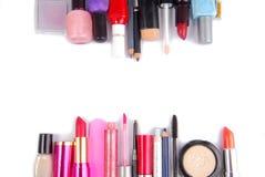De kosmetische reeks isoalted kadergrens Stock Foto's