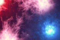 De kosmische ruimte wordt gevuld met oneindig aantal sterren, melkwegen, nevels Mooie kleurrijke achtergrond het 3d teruggeven vector illustratie