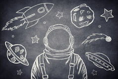 De kosmonaut Royalty-vrije Stock Afbeeldingen