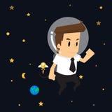 De kosmos van het zakenmanonderzoek Royalty-vrije Stock Foto