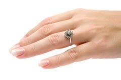 De kostbare Ring van de Diamant Royalty-vrije Stock Foto