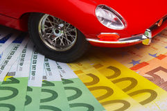 De kosten van de auto Stock Afbeelding