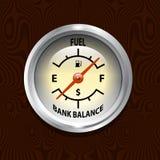 De Kosten van de brandstof Stock Afbeeldingen