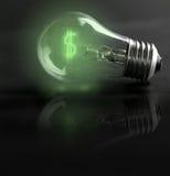 De kosten van de energie Stock Afbeeldingen