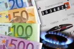 De kosten van de energie Stock Afbeelding