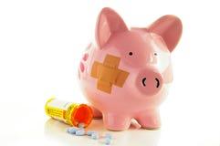 De kosten van de gezondheid Stock Afbeeldingen