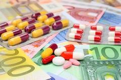 De kosten van de gezondheidszorg Stock Fotografie