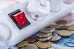 De kosten van Enery Stock Afbeeldingen