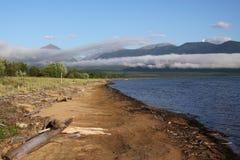 De kosten van het Bikalmeer Stock Afbeeldingen