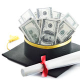 De kosten van het onderwijs Stock Afbeelding