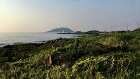 De kosten van jeju-doen Zuid-Korea stock foto's