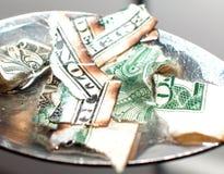 De kosten van verslaving Stock Foto