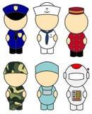 De kostuums van het beroep royalty-vrije illustratie