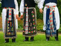 De kostuums van Moravian royalty-vrije stock afbeelding